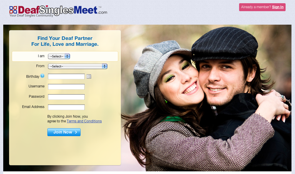 Free dating websites for deaf