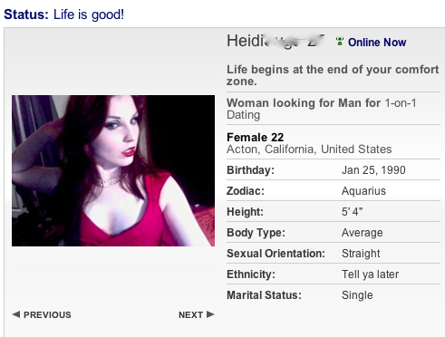 Good female online dating profiles