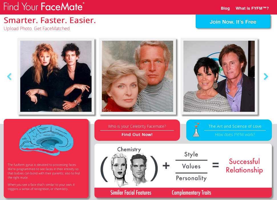 FindYourFaceMate-home-page